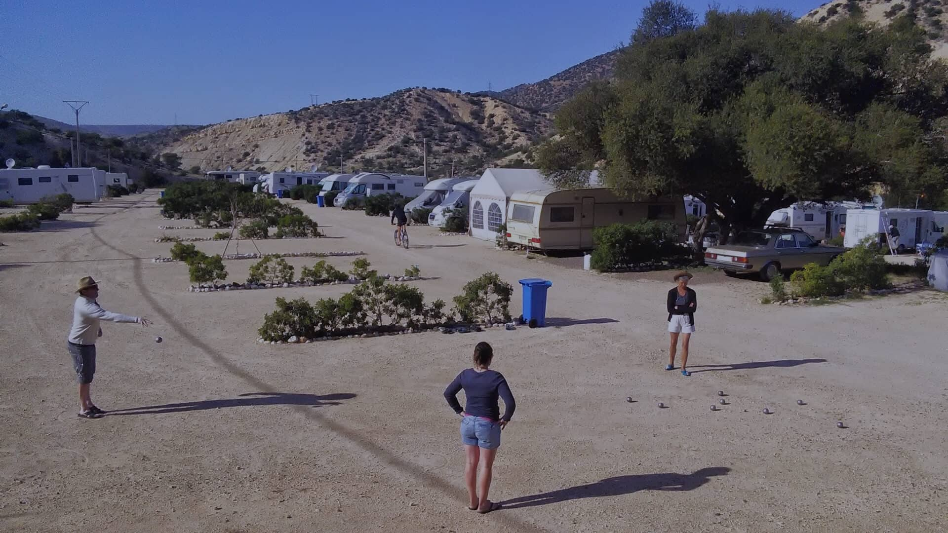 On the wonderful campsite in Aourir, Morocco